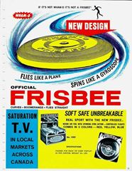 "Image result for 1959 - The word ""Frisbee"" became a registered trademark of Wham-O."