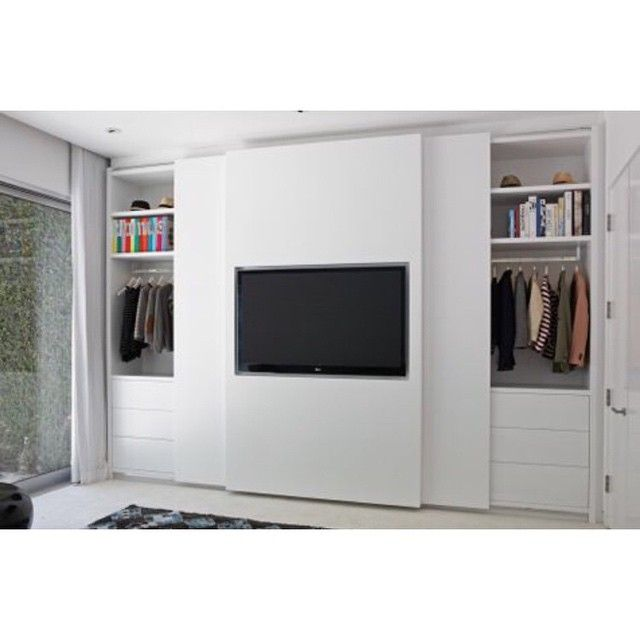 """3 inquiries for our TV Wardrobe today...thought we would share it with y'all! #laclosetdesign #TVWardrobe #closet"""