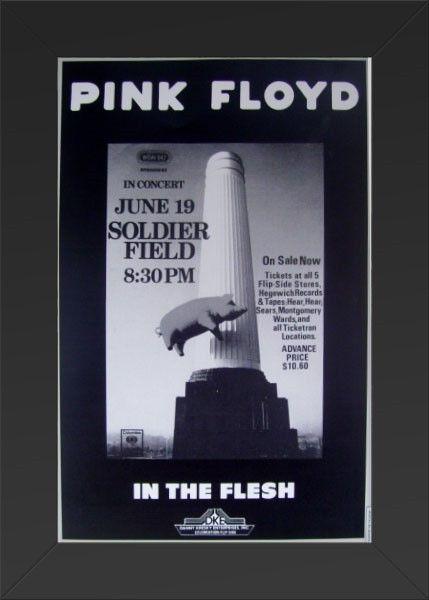 11x17 Concert Poster Pink Floyd Soldier Field Framed or Un-Framed