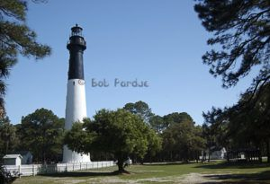 Travel stock image of the famous lighthouse at Hunting Island SC near Beaufort. http://www.bobparduephoto.com