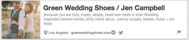 Green Wedding Shoes / Jen Campbell | The 25 Best Pinterest Accounts To Follow When Planning Your Wedding