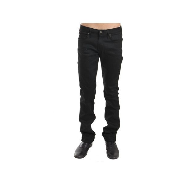 Naked & Famous Skinny Guy in Black Power Stretch ($115) ❤ liked on Polyvore featuring men's fashion, men's clothing, men's jeans, pants, men, mens stretch jeans, mens super skinny jeans, mens skinny fit jeans, mens stretch skinny jeans and mens skinny jeans