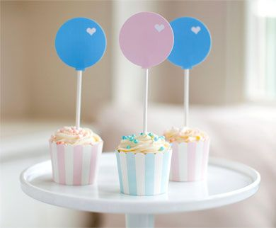 Balloon Cupcake Toppers  http://www.potterybarnkids.com/design-studio/articles/straw_decor_template_by_beach_party.html