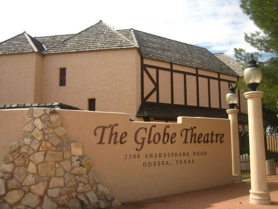 Shakespeare's Globe Theatre Replica 2308 Shakespeare Rd, Odessa, Texas.  I would like to see this!