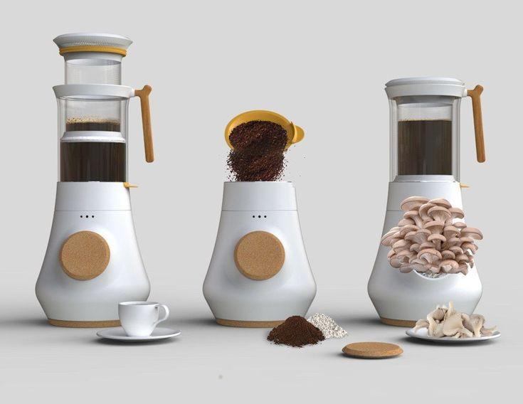 At Last: A Coffee Brewer That Grows Mushrooms! #CoffeeBrewer #growingediblemushrooms
