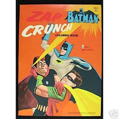 Batman Zap Crunch Coloring Book