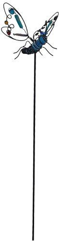 "Continental Art Center CAC10275A Dragonfly Garden Stake, 36-Inch by Continental Art Center. $21.42. Size: 36""x5.5""x7.5"". Wings Move with Wind. Exclusive Design: Blue Dragonfly. 36""x5.5""x7.5"" Hand Blown Garden Stake. Powder Coated Metal and Acrylic Beads Details. Good for Outdoor Decoration."