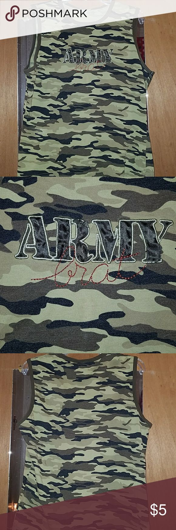 'Army Brat' camo tank top Army brat tank top, worn a couple of times but a little small for me. Tops Tank Tops