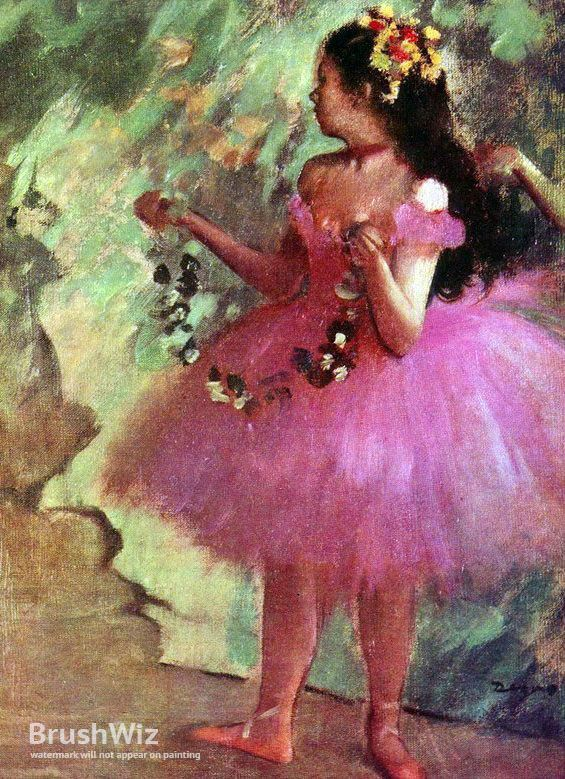 Dancer In Pink Dress by Edgar Degas - Oil Painting Reproduction - BrushWiz.com