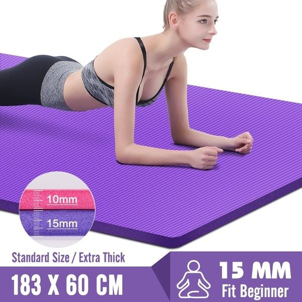 183x60x15mm Non Slip Yoga Mats For Fitness Mat Tasteless Pilates Gym Exercise Thickening Fitness Sports Pad Supporting Home Gym Workouts Mat Exercises Yoga Mats Best