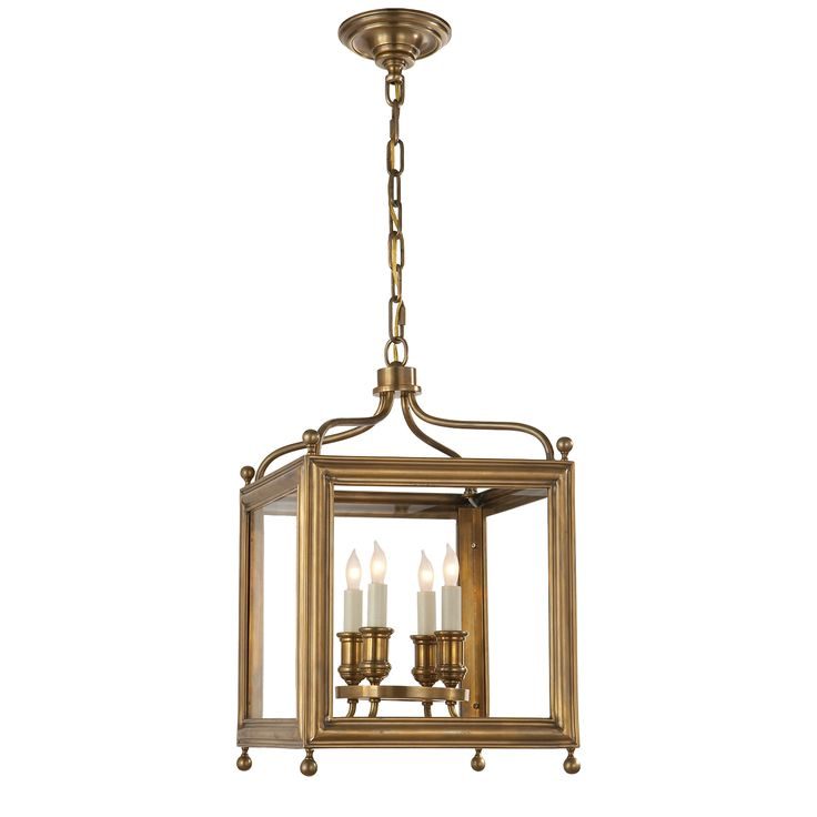 Visual Comfort SP 5001HAB J. Randall Powers Traditional Greggory Small Lantern in Hand-Rubbed Antique Brass