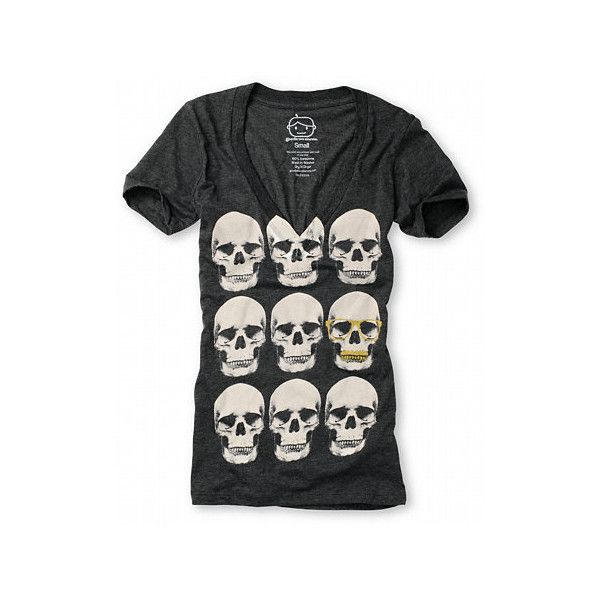 Goodie Two Sleeves Silly Skulls Charcoal Tee