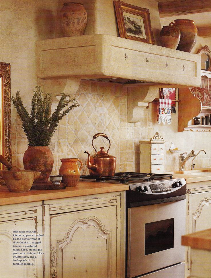 Country French Decorating Adding Old World Charm To A New Kitchen