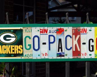 GO GO PACK señal de placa de fútbol por PearlyRoseOriginals en Etsy
