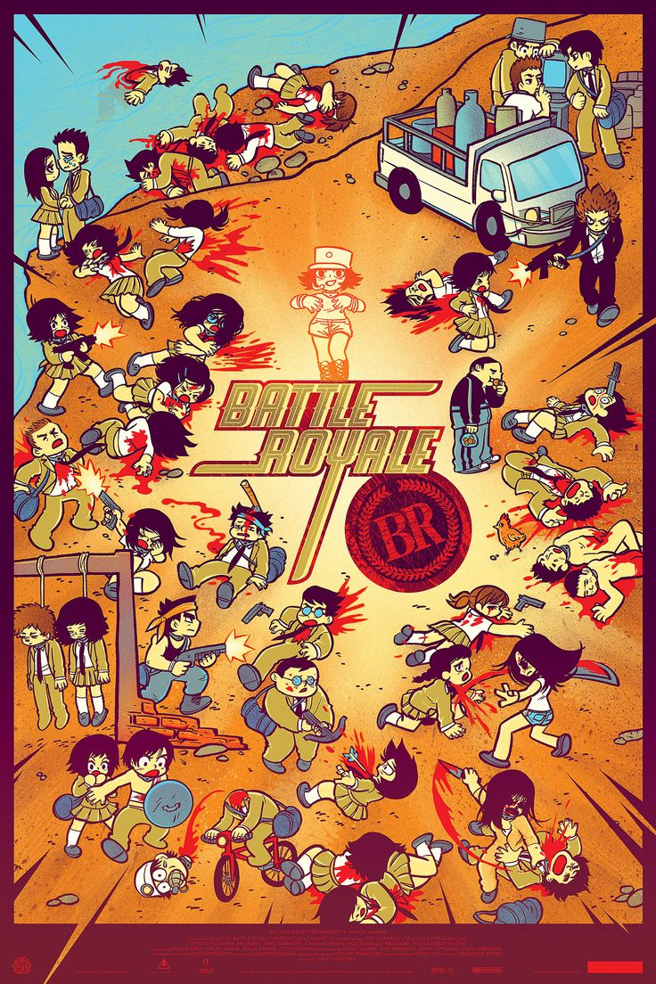 best battle royale images battle battle royal  scott pilgrim artist kills all the kids in this battle royale poster