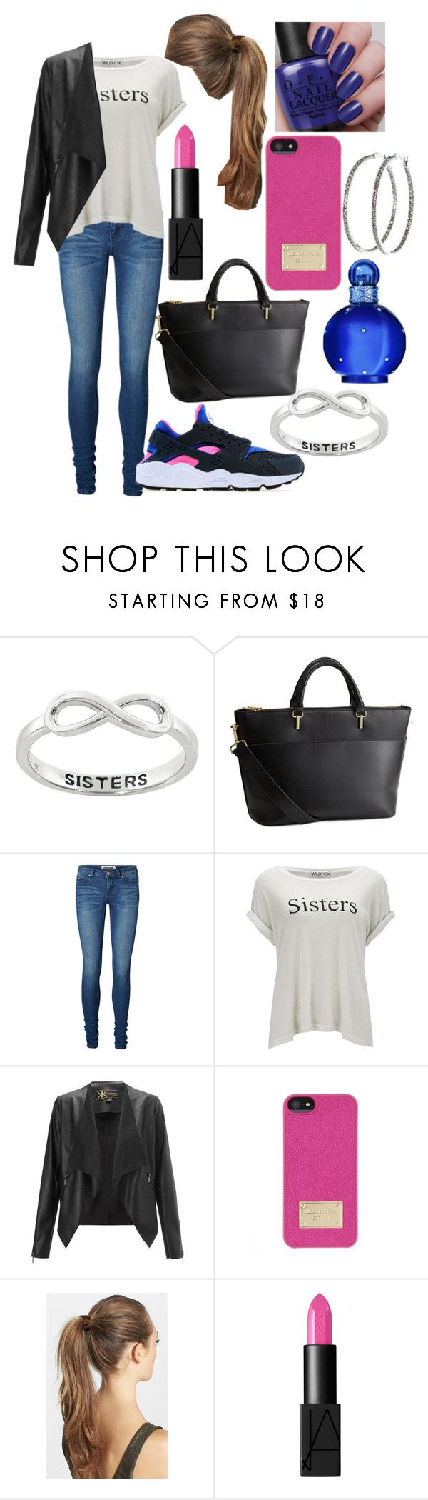 """sisters day out"" by laurajessica ❤ liked on Polyvore featuring Eternally Haute, H&M, Vero Moda, Wildfox, Lipsy, Michael Kors, France Luxe, NARS Cosmetics, Britney Spears and Nyla Star"