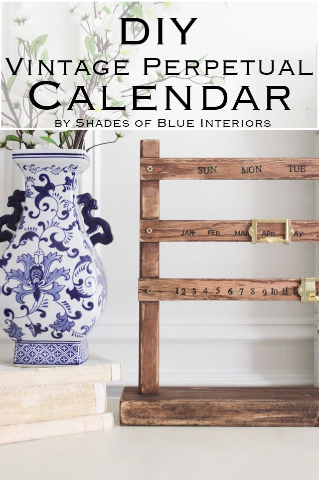 How to create a vintage style perpetual wooden sliding calendar using some scrap wood, and brass library card holders. Easy build that can be customized.