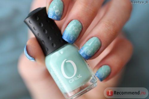 Лак для ногтей ORLY - «Orly Ancient Jade - мятный оттенок со своими недостатками. (+ урок маникюра с пузырьками) » | Отзывы покупателей