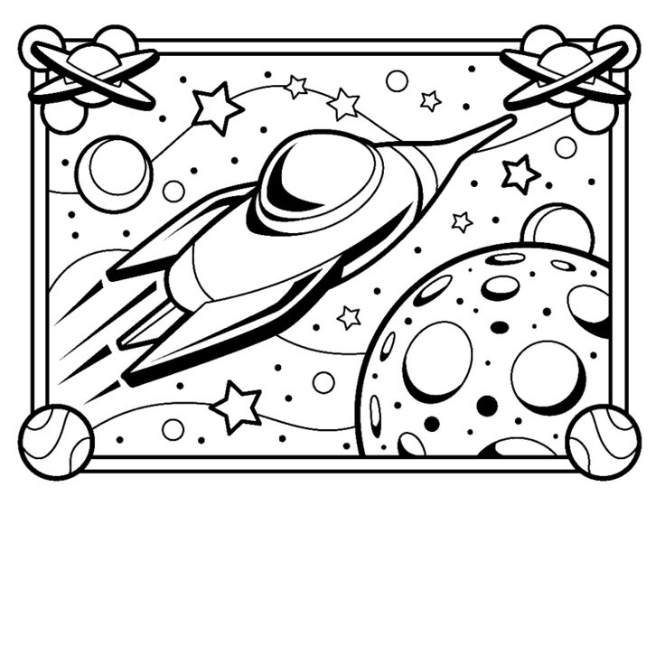 Space Out of this world crafts Space coloring pages