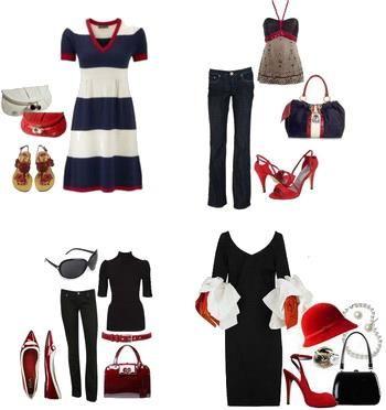 Красные летние туфли женские
