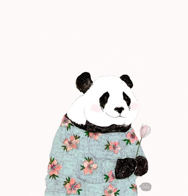 Panda Floral Pandas, I know are from China, but I'm making an exception because I can.