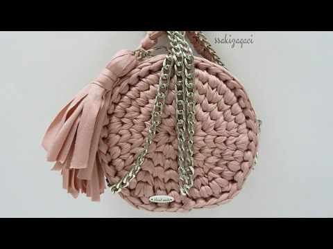 Penye ip ile messenger çanta yapımı - YouTube