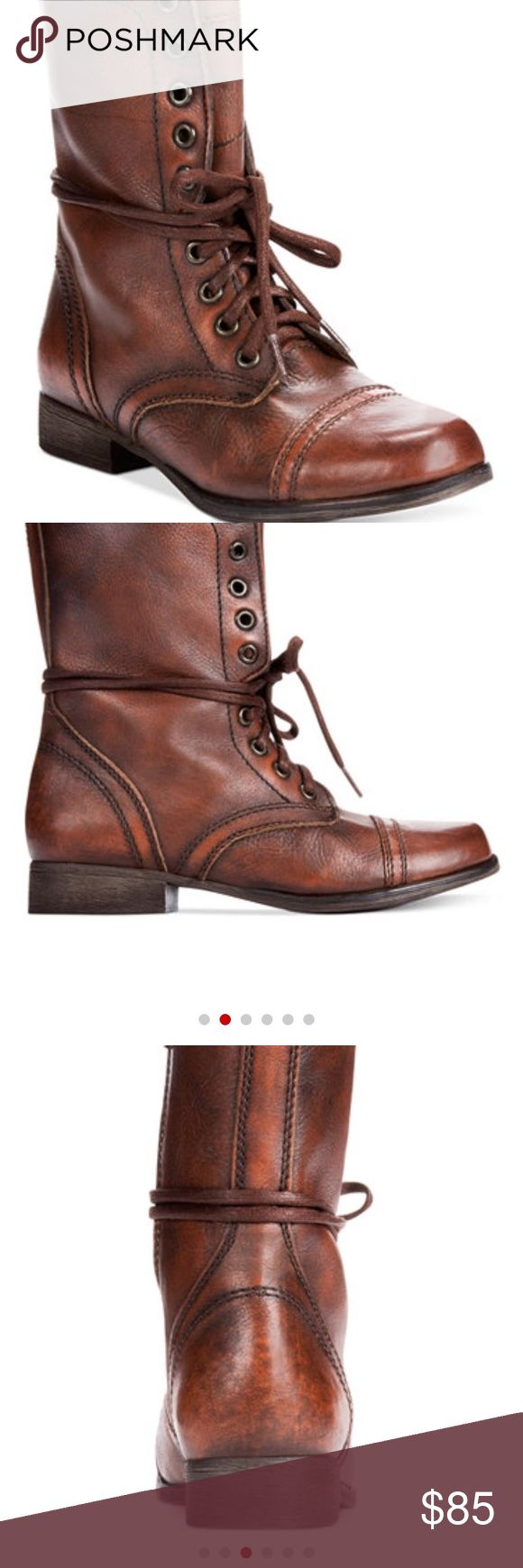 Steve Madden Troopa Combat Boots Brand new without box. only tried on the right shoe so these are in perfect condition. true to size. Steve Madden Shoes Combat & Moto Boots