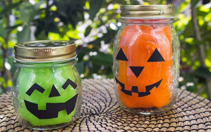 Decorazioni per Halloween realizzate con barattoli di vetro #DIY #autumn #halloween #halloween #jar