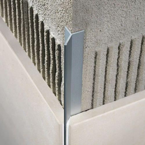 Profilitec aluminum edge trim, tiles, external corner