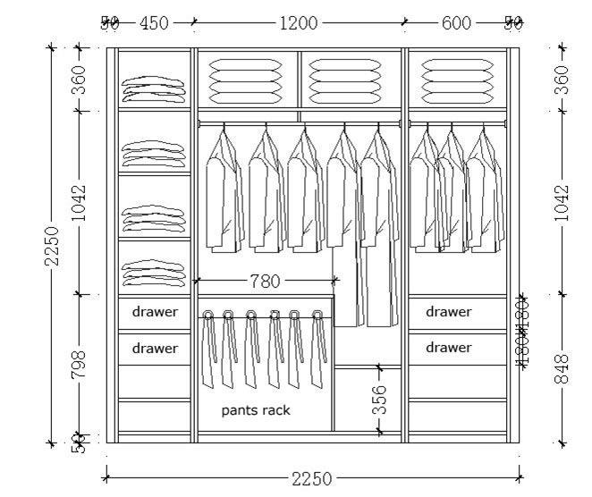 M s de 25 ideas incre bles sobre placares a medida en for Diseno de closet medidas