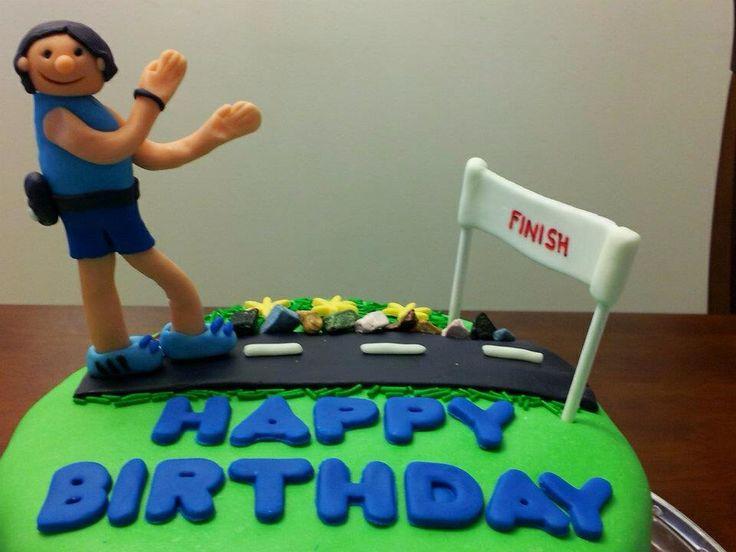 Marathon Runner Fondant Cake My Creations Pinterest