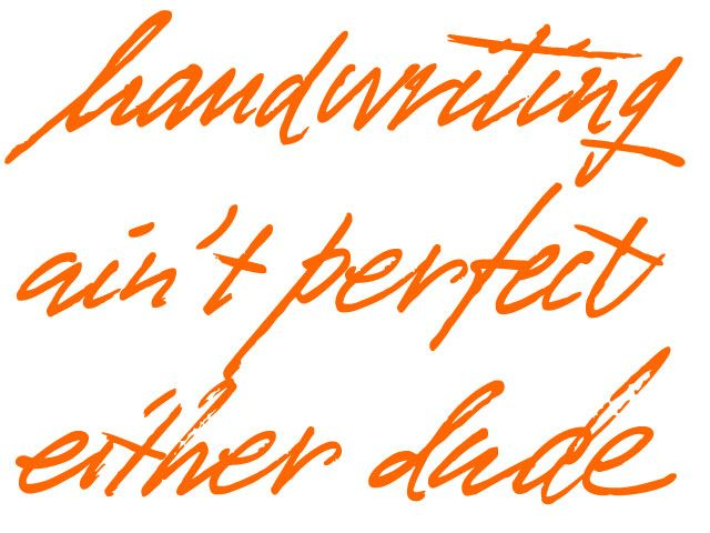 Wow, a handwritten typeface that actually looks like handwriting. Unfortunately not available for purchase:-(