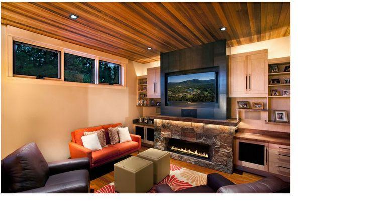 elongated fireplace