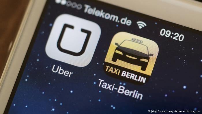 Symbolbild zum Uber Gerichtsprozess in Frankfurt 16.09.2014