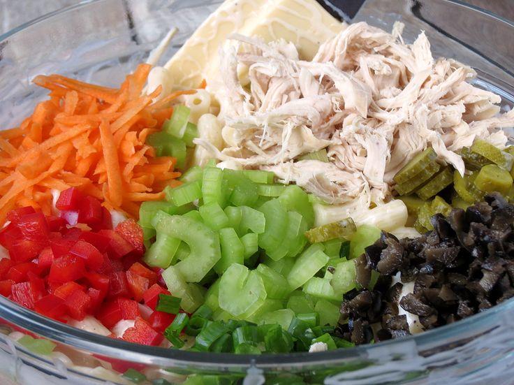 Easy Chicken Macaroni Salad | YummyAddiction.com