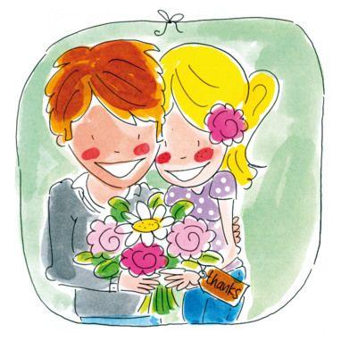 Verliefd koppel knuffelt elkaar- Greetz