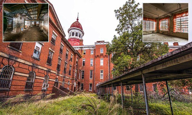 A set of haunting images show an abandoned asylum lost in time after being left uninhabited for 20 years. The building, in Columbia, South Carolina, was used to house traumatized veterans