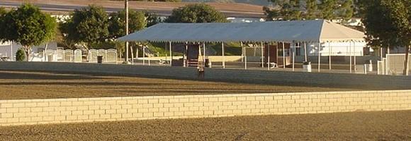 The arenas at the LA Equestrian Center.