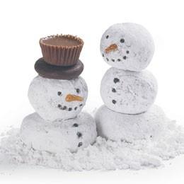 Snowman Donuts: Holiday, Idea, Doughnut Hole, Christmas, Donuts, Snowman, Donut Snowmen, Kid