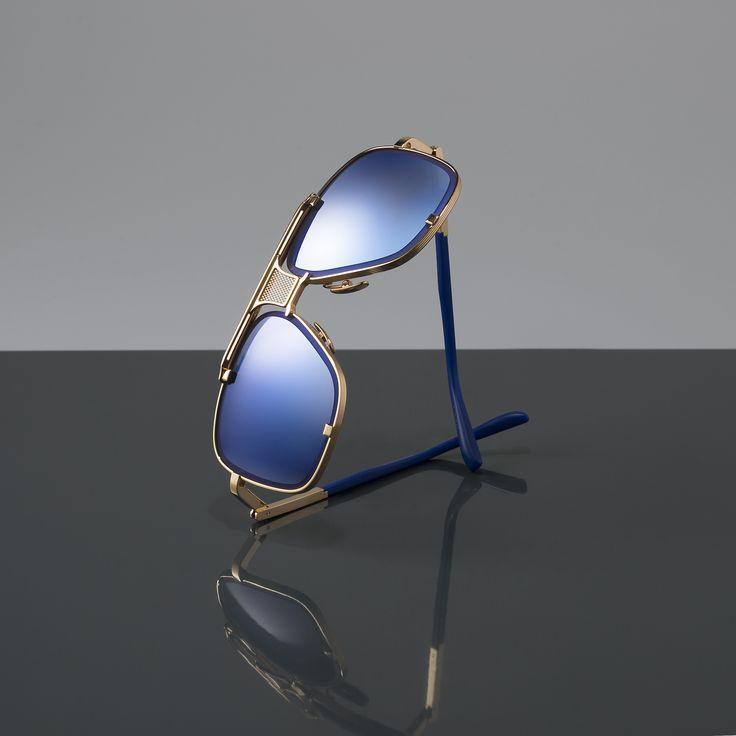 Blue and Gold // The Mach-Five aviator sunglasses by DITA Eyewear.