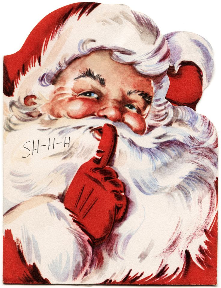 Old Design Shop ~ free printable vintage Santa card #vintage #christmas #vintagechristmas
