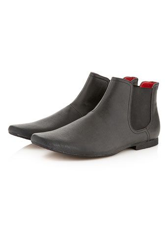 'Flatty' Low Chelsea Boots