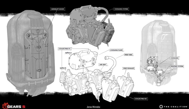 Gears 5 Collectible Grindlift Parts By Jonas Minneboi Did Both