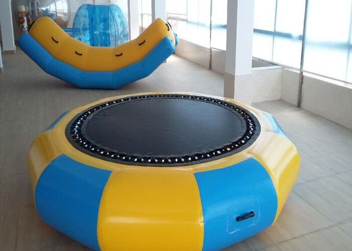 0.6mm PVC Inflatable Round Trampoline 2 M Diameter Water Trampoline Warehouse Price Inflatable Toys