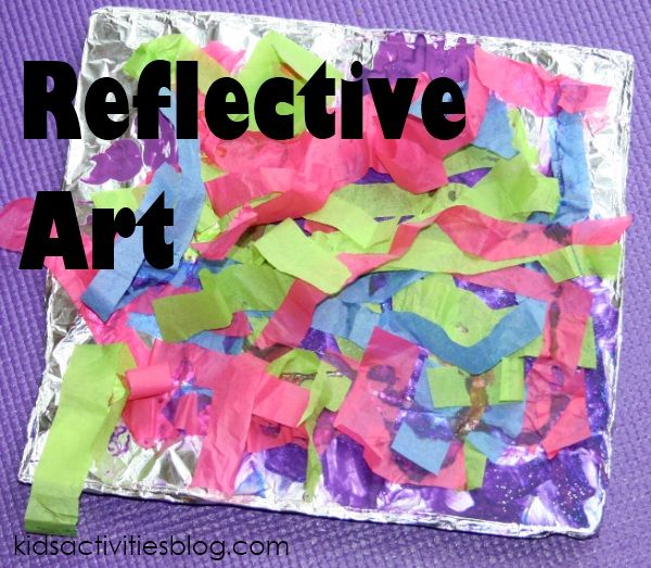 Love this aluminum foil craft that kids of any age could create colorful {and shiny} art!