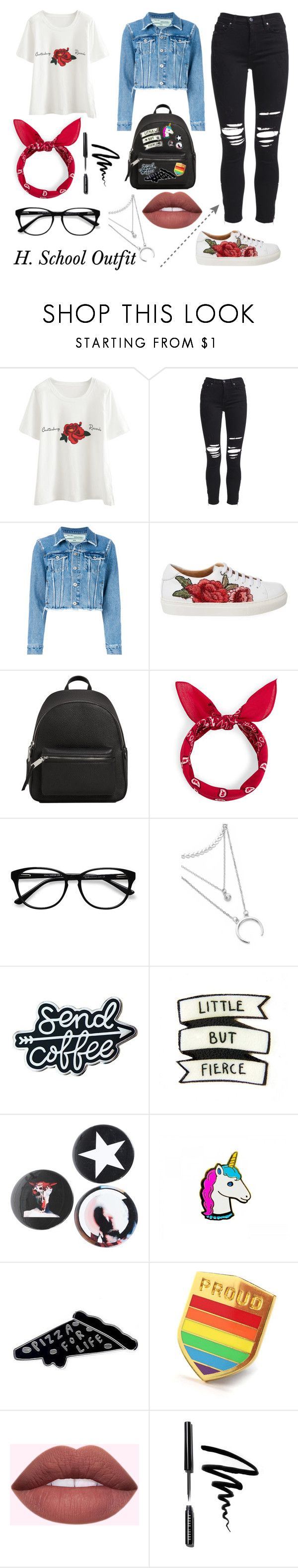"""H. School Outfit"" by emina01 ❤ liked on Polyvore featuring AMIRI, Off-White, MANGO, EyeBuyDirect.com, Givenchy and Bobbi Brown Cosmetics"