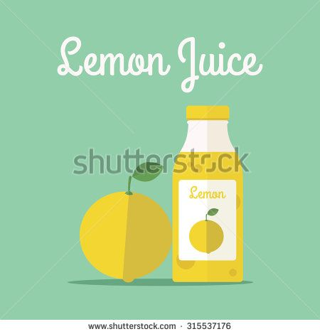 vector illustration of lemon juice - stock vector