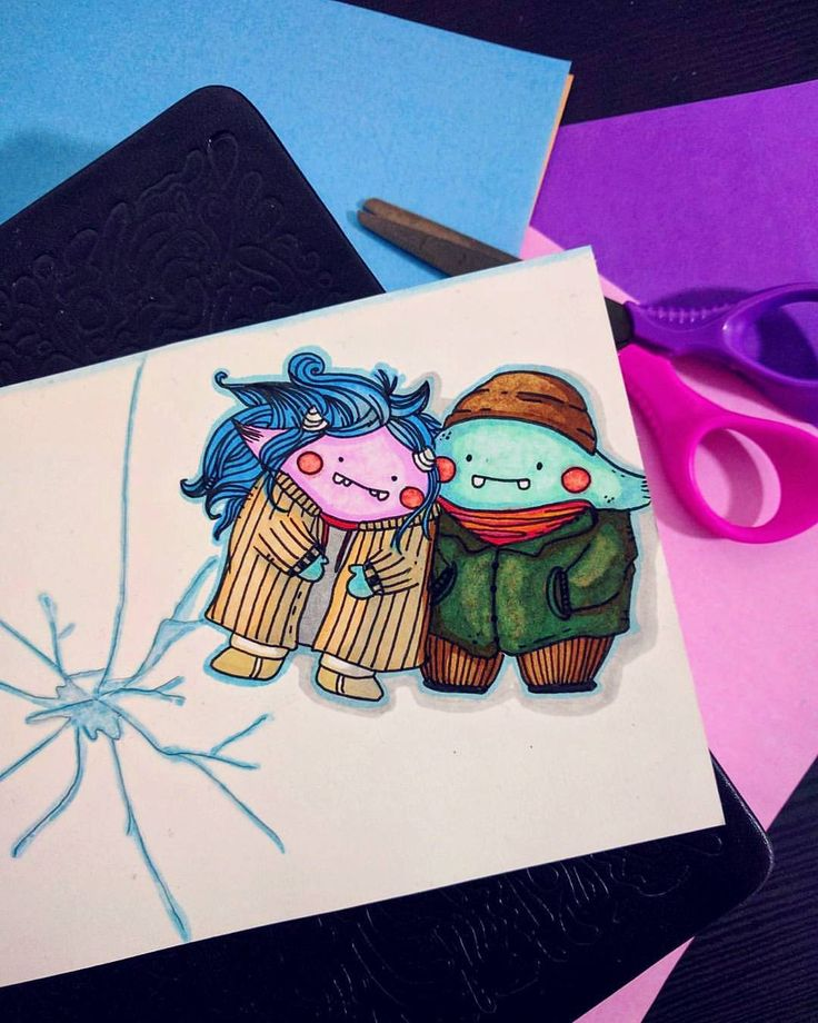 First sketch of the year! - Tiny Clementine & tiny Joel from Eternal Sunshine of the Spotless Mind - - _luciapetrucci