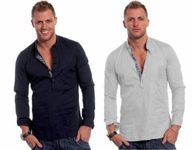 yakalı Yeni Sezon Erkek Gömlek Modelleri
