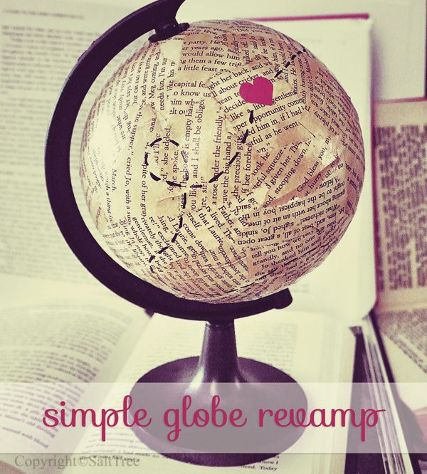 561 best maps and globe crafts and projects images on pinterest salttree a simple globe redo gumiabroncs Choice Image